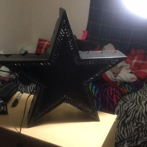Star slotted light up aluminum sign